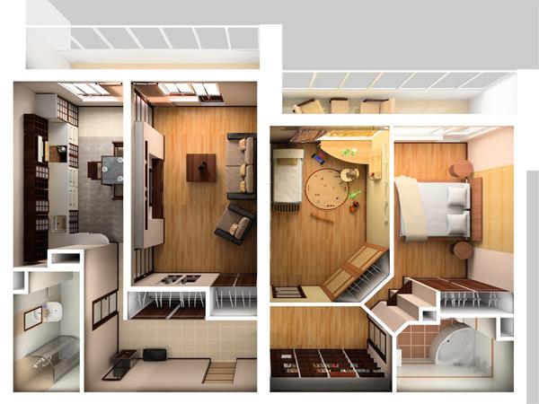 Дизайн квартиры своими руками трехкомнатной